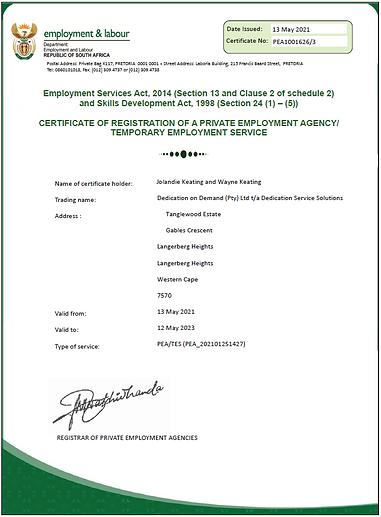 CertificateOfRegistrationOfaPrivateEmplo