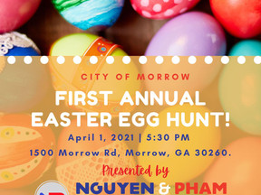 Happy Egg Hunt Day! 5:30 pm Today at Morrow City Hall | Clayton County, GA