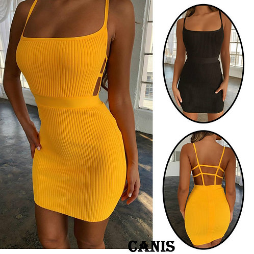 Summer Sexy Bandage Hollow Out Dress