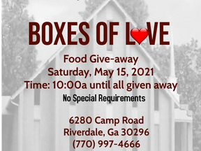 Boxes of Love Food Giveaway | The Greater Solid Rock Baptist Church | Riverdale, GA | Clayton County