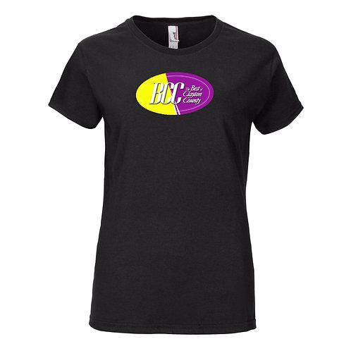 BCC Women's Printed Lightweight Women's T-Shirt- Black