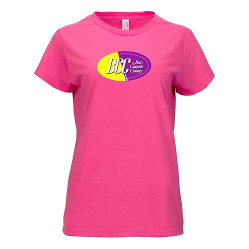 BCC Women's Printed Lightweight Women's T-Shirt- Pink