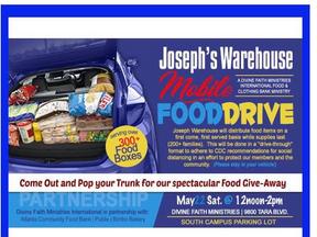 Mobile Food Drive | Joseph's Warehouse | Divine Faith Ministries | Jonesboro, GA | Clayton County