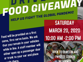 Drive-Thru Food Giveaway on March 20th in Forest Park, GA Clayton County