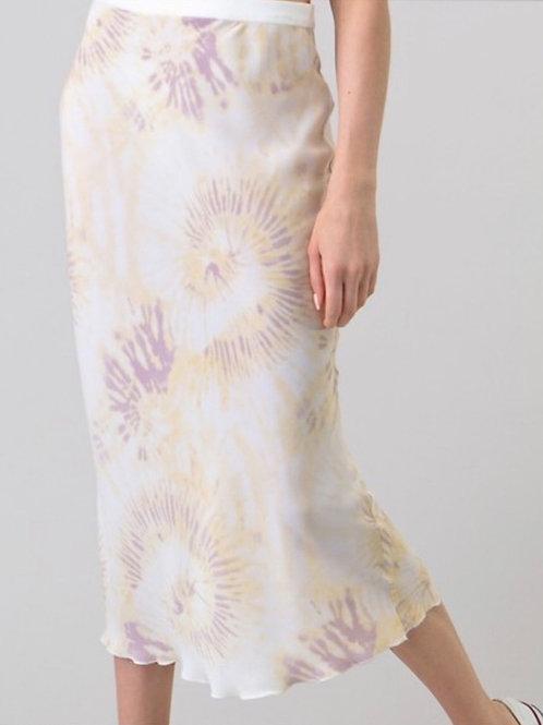 Mia Tie Dye Bias Cut Skirt