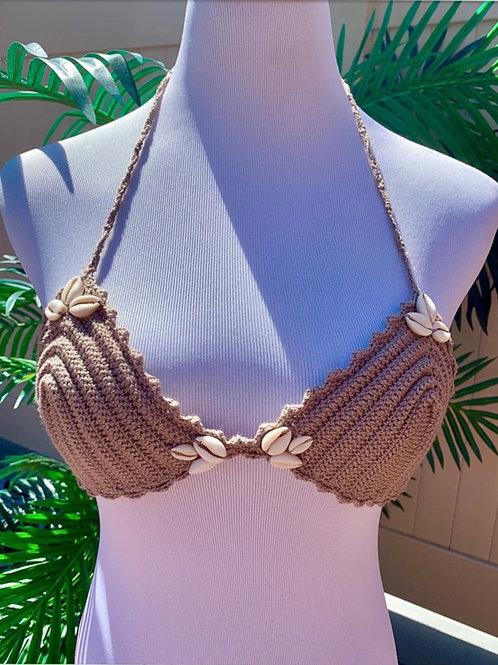 Shell Crochet Bikini Top