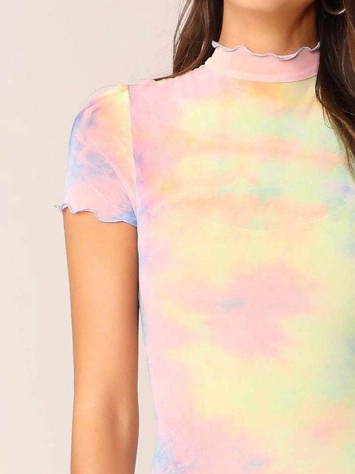 Sheer Tie-dye Dress