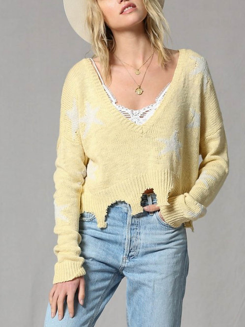 Sunburst Knit Top
