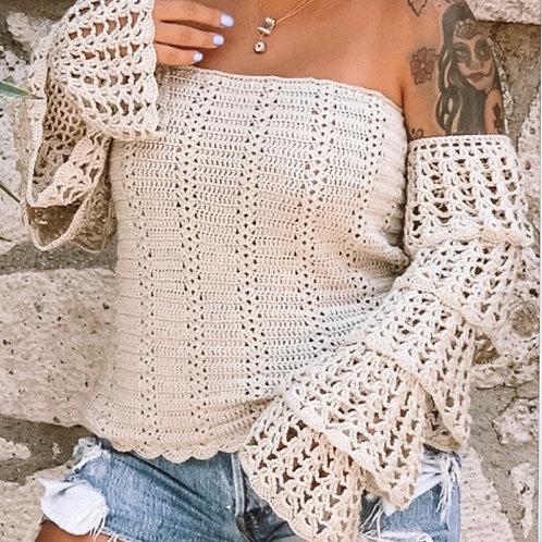Carmen Crochet LS Top