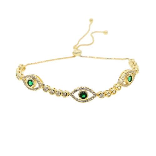 Emerald Eye Bracelet