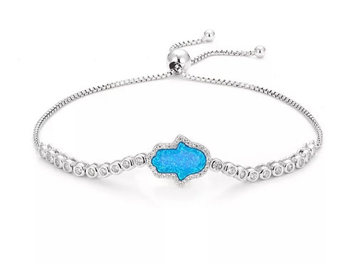 Opal Hamsa Bracelet