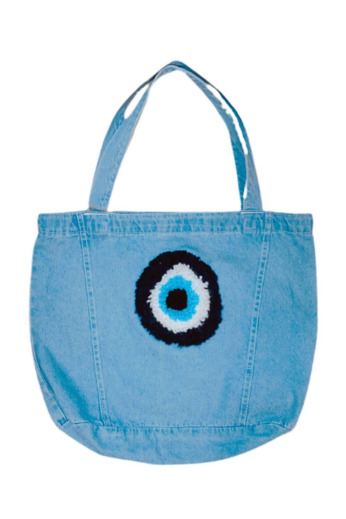 Evil-Eye Denim Tote