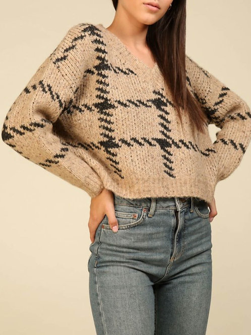 Naomi Herringbone Sweater