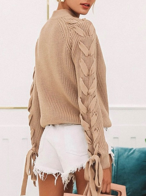 Sara Lace-up Sweater