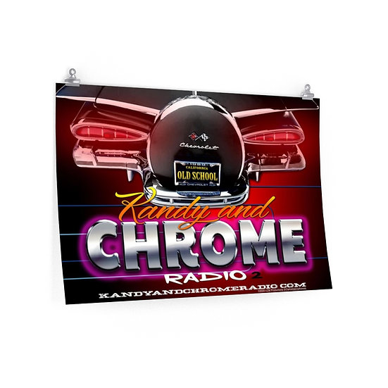 Kandy and Chrome Radio Premium Matte Color Posters