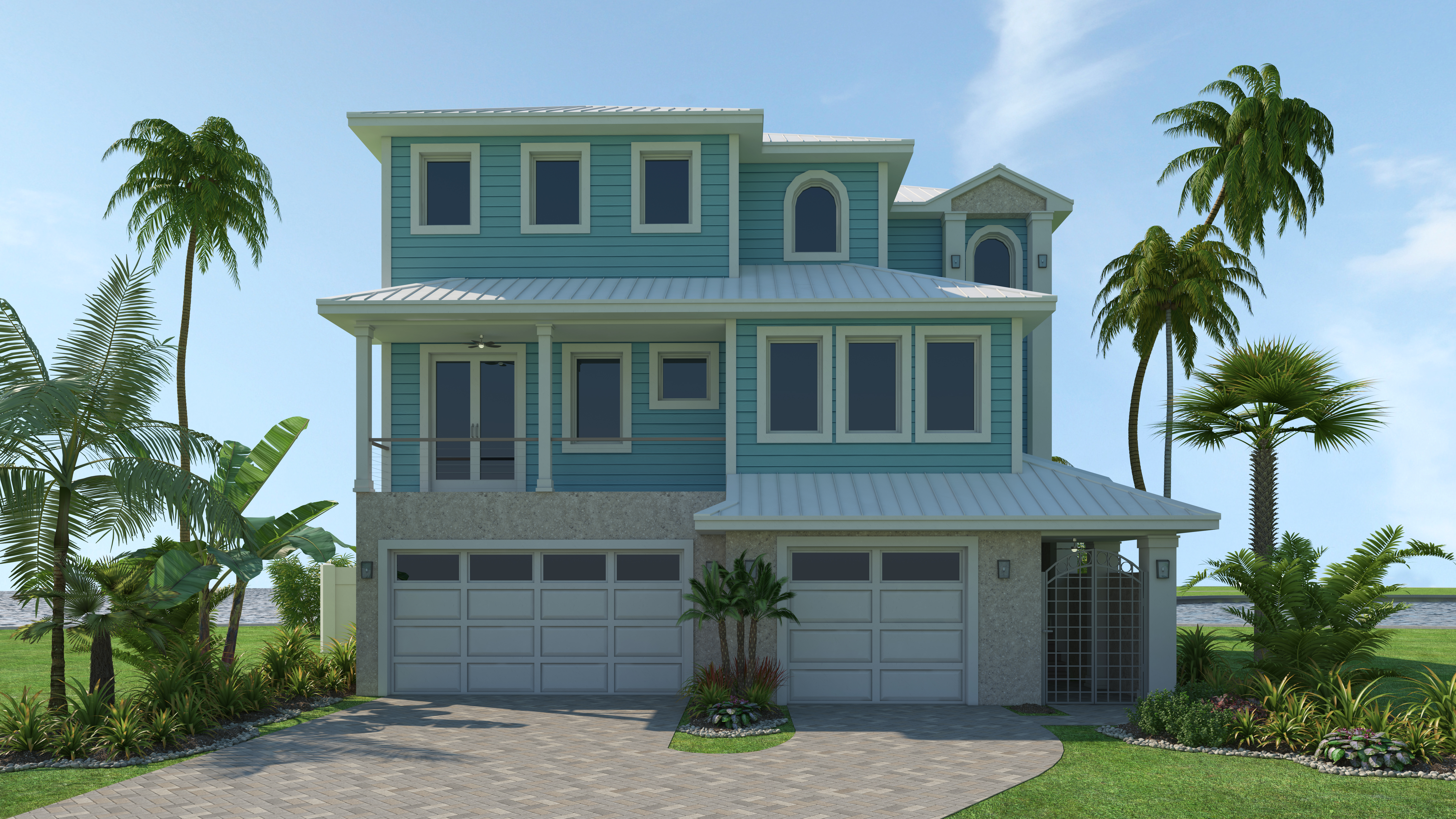Beautiful 3 Story Beachfront