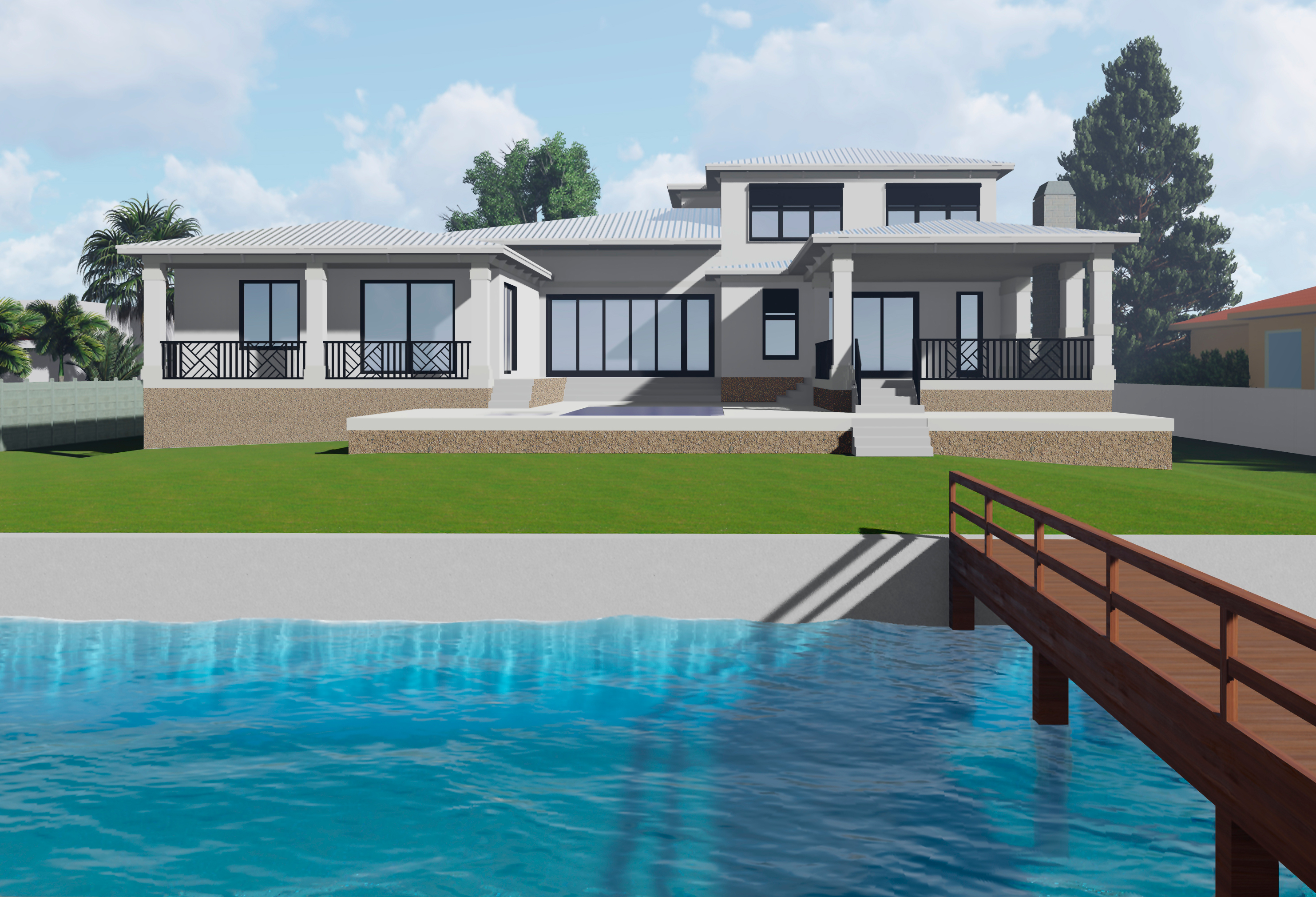 Modern Waterfront Property