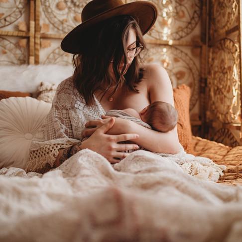 Newborn Lifestyle Session In My Studio   Poconos & Lehigh Valley, PA Photographer