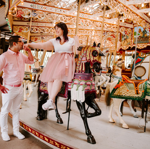 Maria & Joshua's Knoebels Engagement Shoot   Poconos & Lehigh Valley, PA Photographer