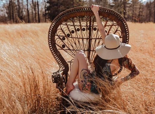 Outdoor Peacock Chair Boudoir  | NEPA Poconos & Lehigh Valley Boudoir Photographer