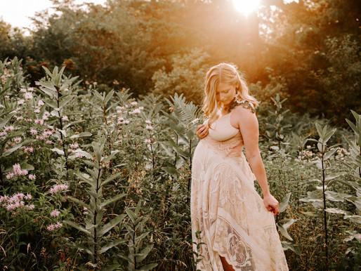 Katherine's Magical Mountain Sunset Maternity Session | Pocono Stroudsburg, PA Photographer