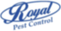 Royal Pest control logo. Royal pest control exterminates pests, bugs, rodents, spiders and other pest issues.