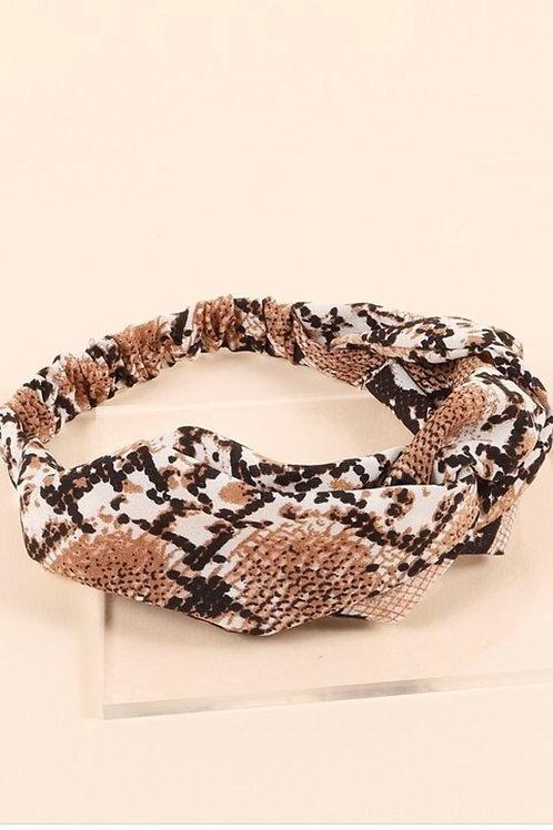Snake Print Head Wrap
