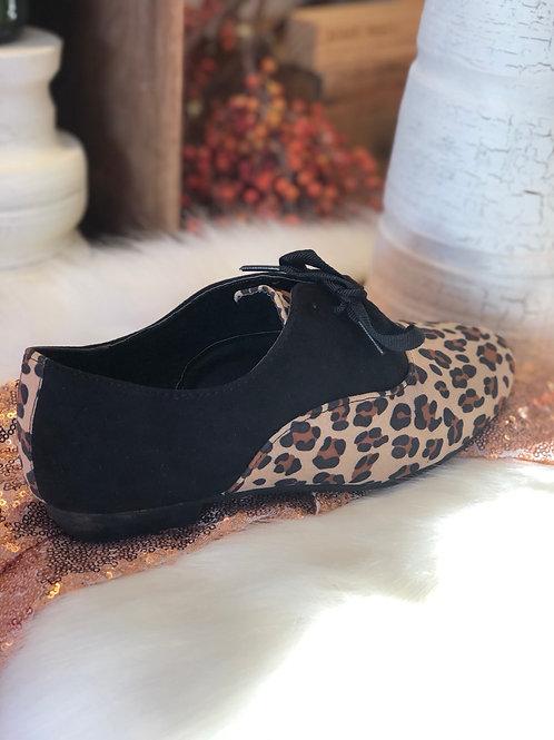 Frankie Oxford Leopard Flats
