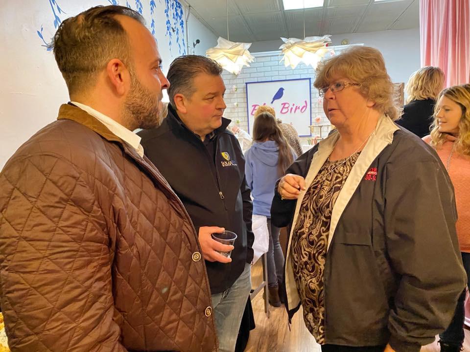 Wanda Dusek talks with Faris Haha and Shawn Vogler
