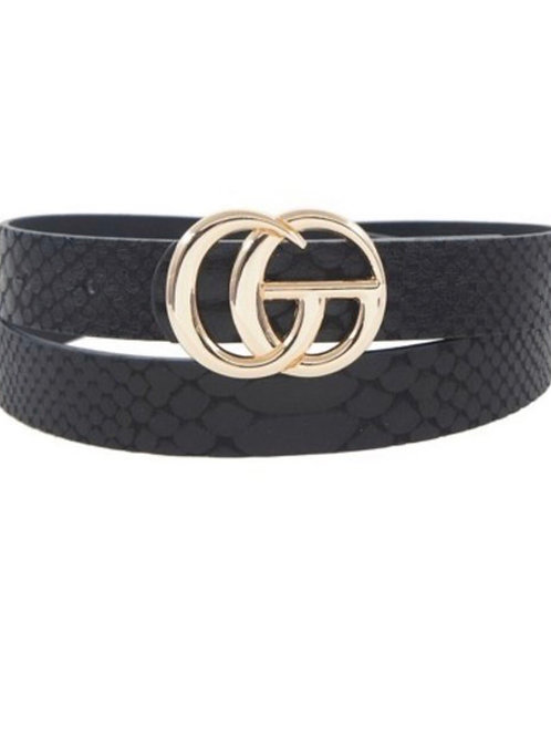 The G Snake Print Belt