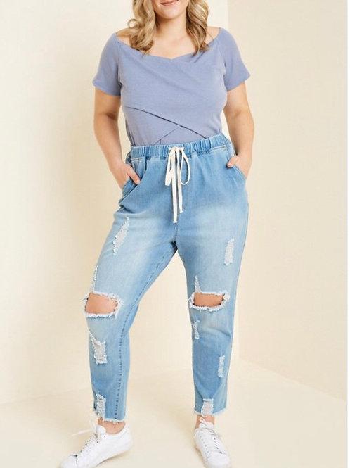 Dazed in Blue Denim Jeans