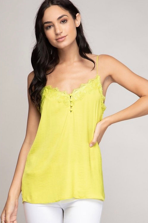 Lime Lace Cami Top