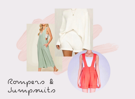 Rompers and Jumpsuits and Overalls! Oh, my!