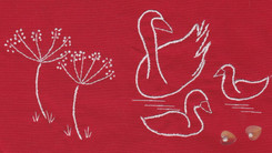 Swans and Wildflowers