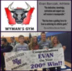 Evan Barczak 200th career win