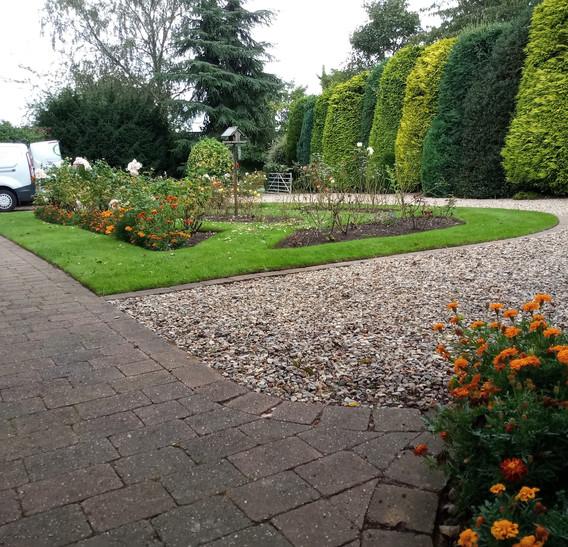 Formal rose beds