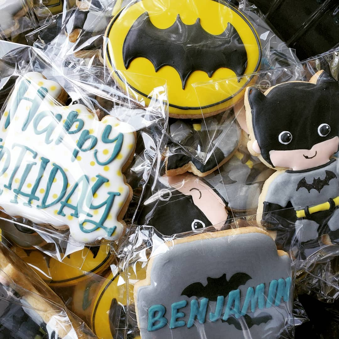 Custom Batman Cookies