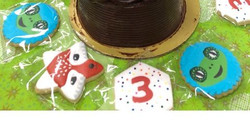 Kid Space Birthday Cookies