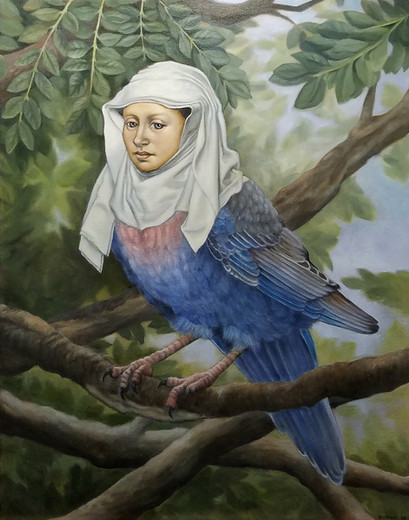 LadyBird 2018. Oil on canvas 28x20