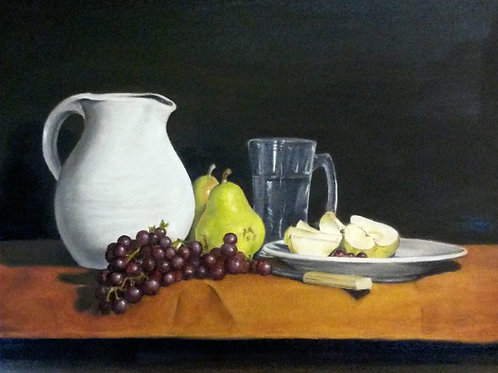 Pears and Grapes - Photo Print