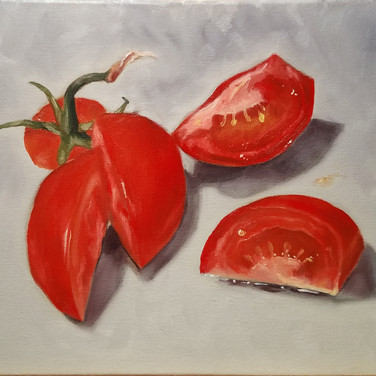 Tomatoes, 2018. Oil on canvas, 10x12