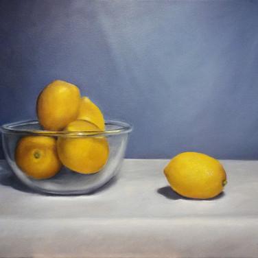Lonely Lemon, 2015. Oil on canvas, 18x24