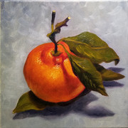 Satsuma, 2017. Oil on canvas, 8x8
