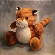 Stuffed, 2017. Oil on canvas, 8x8