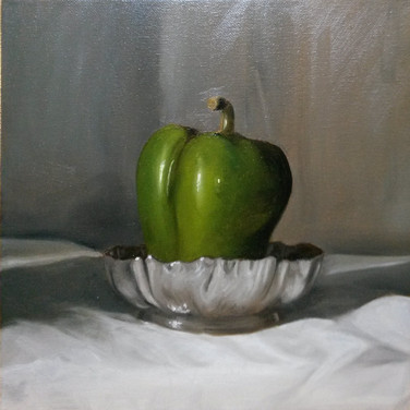 Pepper, 2015. Oil on canvas, 10x10
