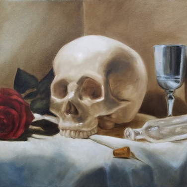 Momento Mori 2, 2017. Oil on canvas, 18x24