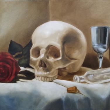 Momento Mori 2, 2017. Oil on canvas, 18x24