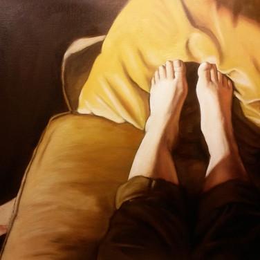Sunbeam, 2016. Oil on canvas, 22x28
