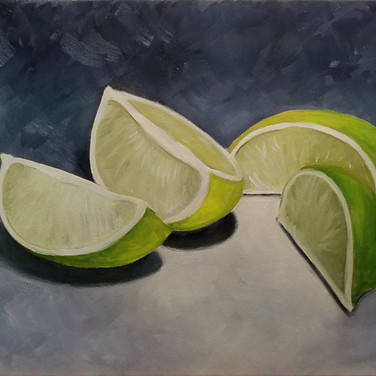 Limes ver. 2, 2018. Oil on canvas, 10x12