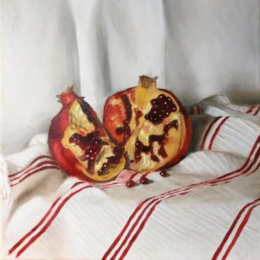 Pomegranate, 2016. Oil on canvas, 10x10